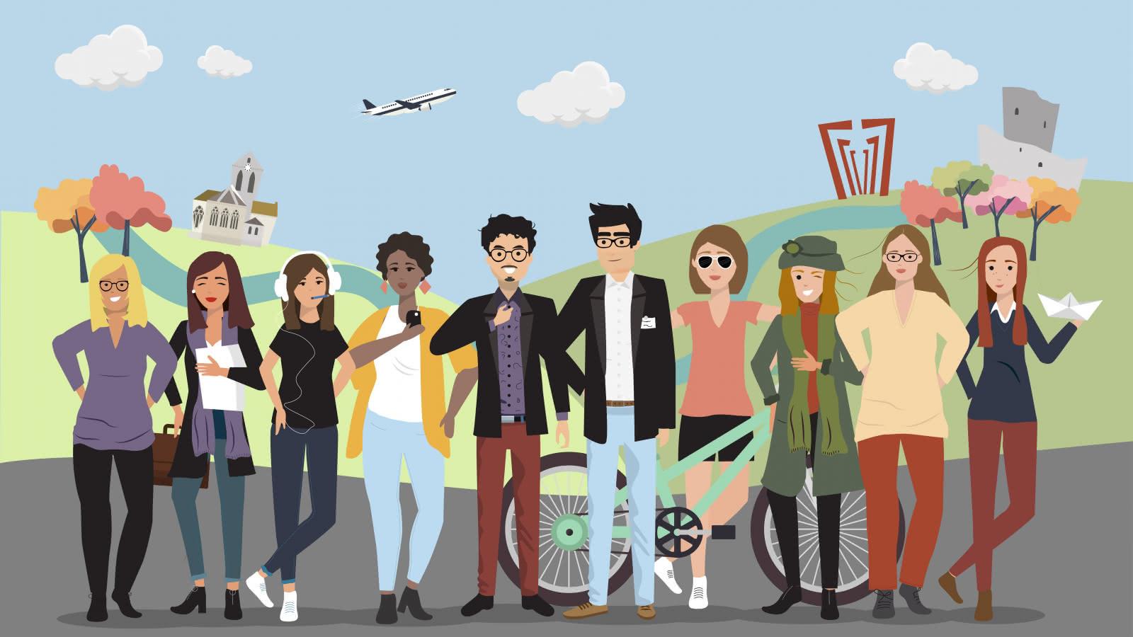 Avatars équipe Val d'Oise Tourisme